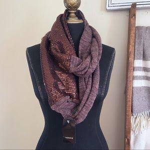 NWT Torrid Sequin Knit Infinity Scarf Purple
